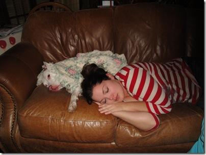 19.  Lacie and Moo sleeping