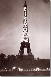 Citroën utilise la tour Eiffel pour sa promotion en 1925