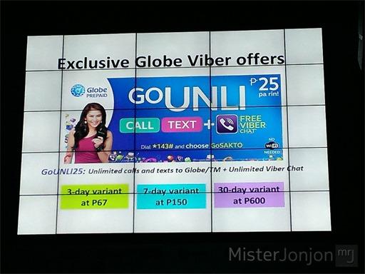 Globe Telecom GoUNLI Viber Promos