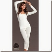 Shopclues: Buy Oswal Premium Ladies White Thermal Lower at Rs. 249 only