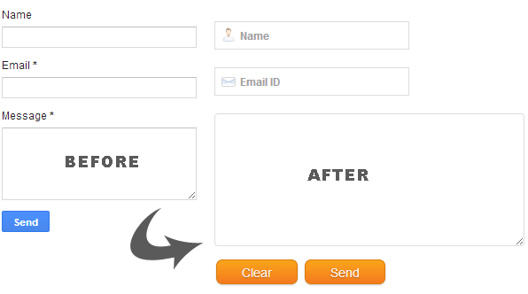 Custom Blogger Contact Form