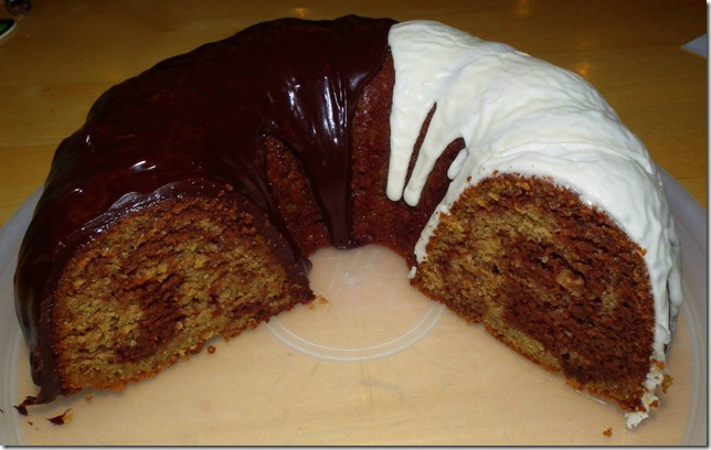 Chocolate Banana Marble Bundt Cake 10-25-11