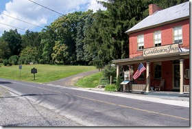 Cashtown Inn in Adams County, PA with state marker to the left