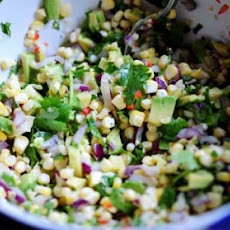 Fresh Corn and Avocado Salsa