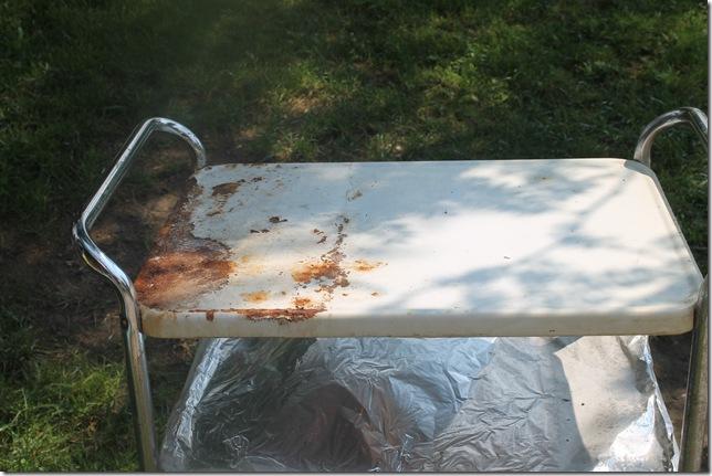 estate sale kitchen cart bottle redo friday 034