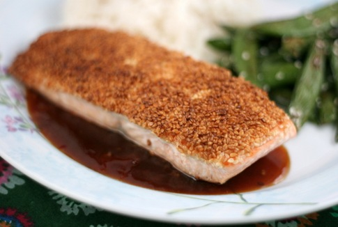sesame crusted salmon 1