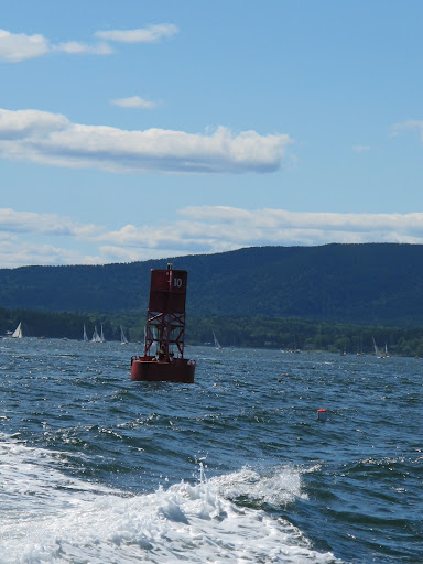 Martha, watch out for that channel marker!  And remember - red right returning!  We don't want to get lost.