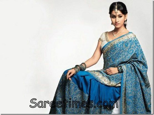 Anjali_Lavania_Blue_Designer_Saree