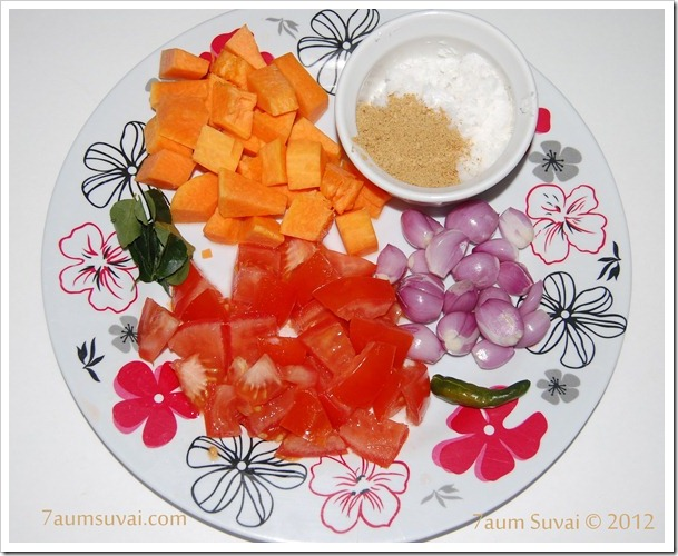 Arachuvitta sambar Ingredients