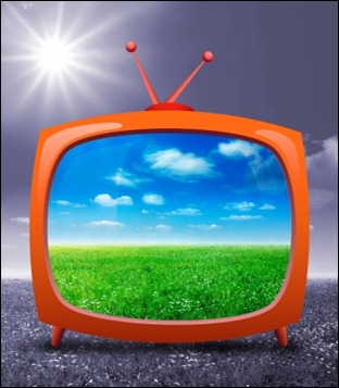 TV screen with picture--idea go at freedigitalphotos
