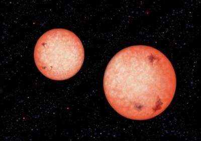 estrelas vermelhas binárias