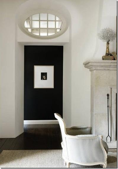 hallway vista in colour _ this hallway in black