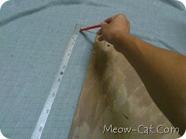 how to building cat tree - Fabric cut and wrapped 1