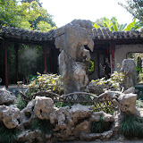 ゴツゴツした奇岩が美しいとされる。蘇州(そしゅう)の庭園にて。