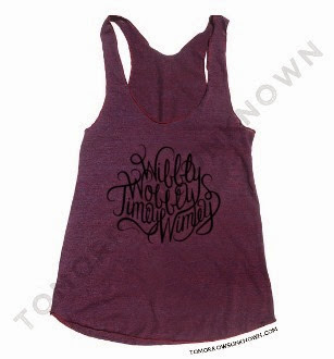 Doctor Who Wibbly Wobbly Timey Wimey Racerback Tank Top from Tomorrows Unknown