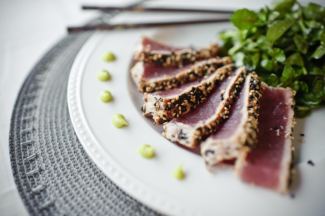 Seared Ahi Tuna and Watercress Salad