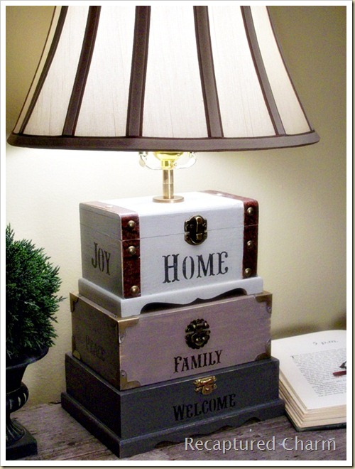 Dollar Store Trinket Box Lamp 035a