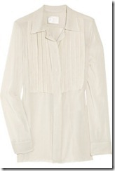 Lanvin crepe-front silk-chiffon blouse £1,515