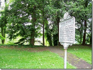 Former location of the Daniel Boone marker in the Daniel Boone Park