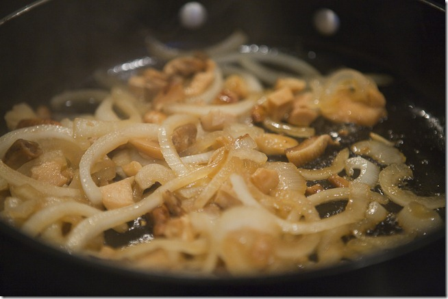 Sauteed Onions Mushrooms and Garlic
