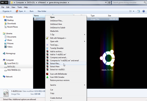 instal game dengan winRAR 1