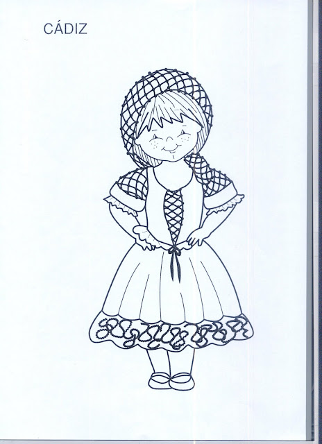 pintar dibujos muestra dibujos de andalucia y sus trajes tipicos para