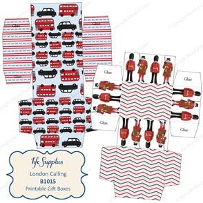B1015 etsy 1 London Calling printable gift boxes british