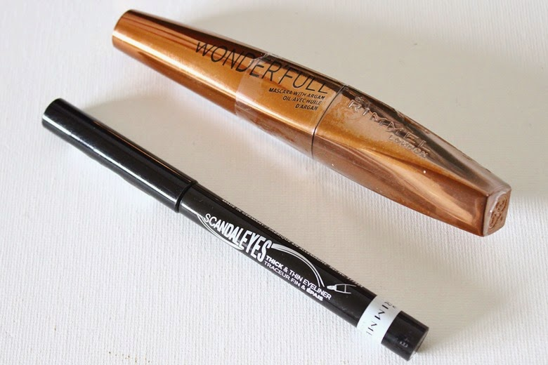 rimmel scandal'eyes mascara thick and thin liner