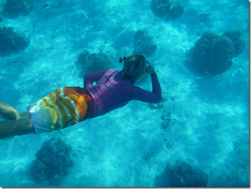 Livia working on her free diving