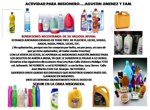 actividad para reciclar y bendecir misioneros