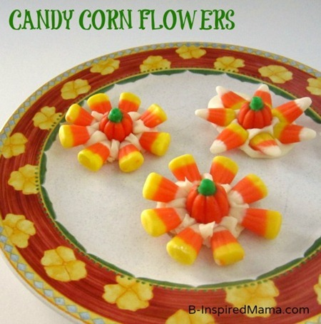 Candy Corn Flowers