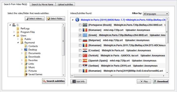 Open Subtitle downloader