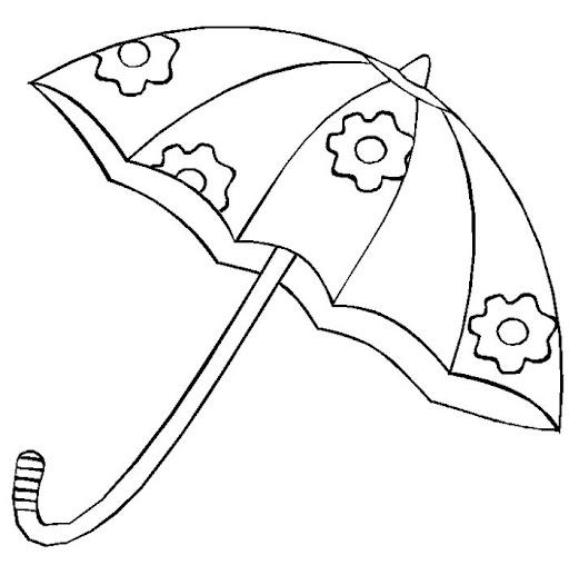 Dibujo sombrilla para colorear - Imagui