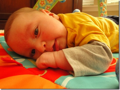 18.  Tolerating tummy time
