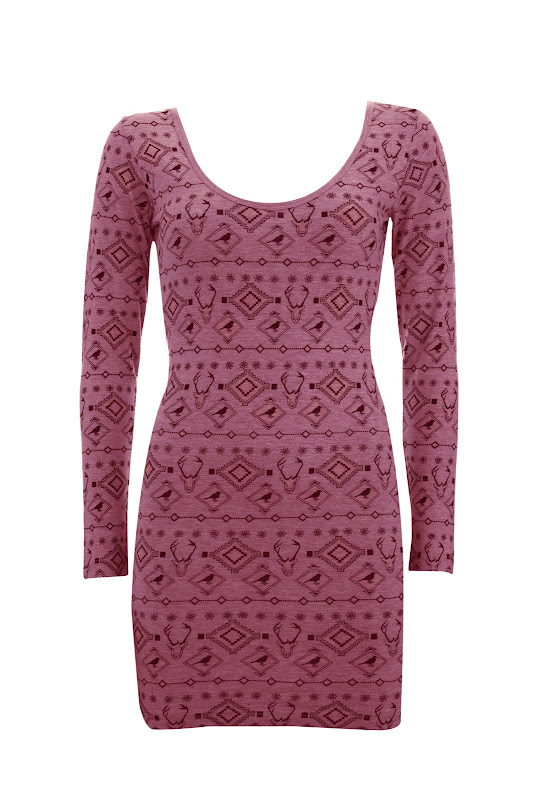 Brat & Suzie Burgundy Print Dress