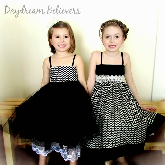 LOVE this gorgeous sister set from Daydream Believers Designs! Gorgeous, modern, handcrafted clothing for girls. Swoon!