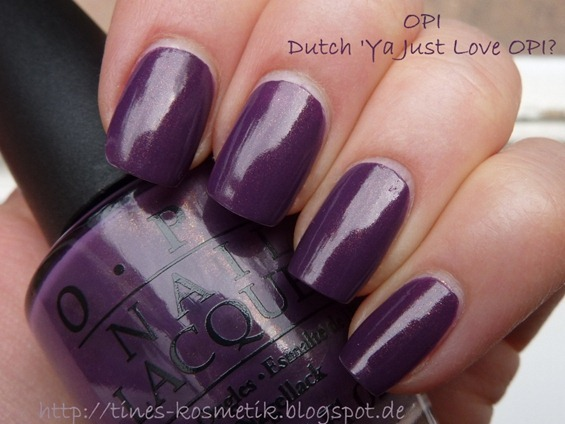 Dutch Ya Just Love OPI 1
