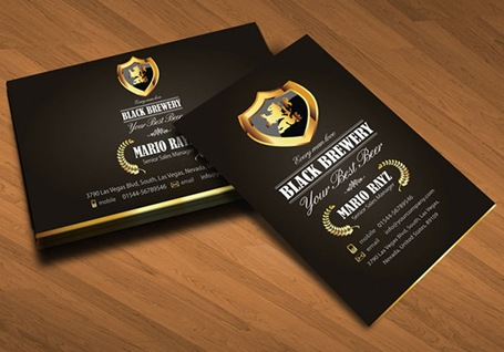 Black-brewery-beer-corporate-business-card