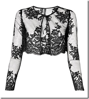 Slim-fit lace bolero