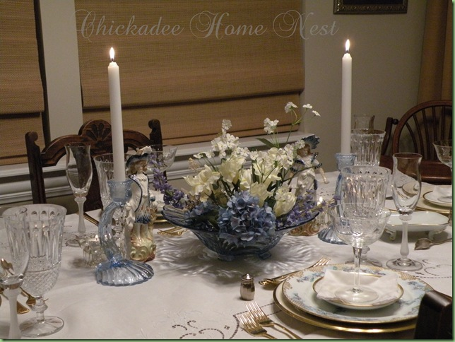 Little Boy Blue Spring Tablescape