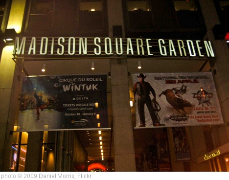 'Madison Square Garden' photo (c) 2009, Daniel Morris - license: http://creativecommons.org/licenses/by-sa/2.0/