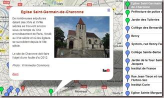 Carte des recherches archologiques  Paris