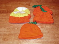 Pumpkin candy corn hats