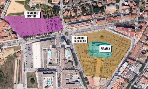Mapa de ubicación de la FiraFan 2014 en Platja d'Aro