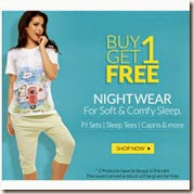 Zivame : Buy Coupon Nightwear Buy 1 Get 1 Free from Rs. 225