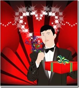 hombre con regalo