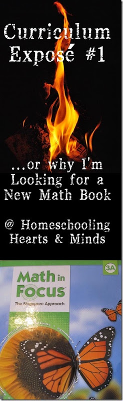 Curriculum Exposé #1…or Why I'm Looking for a New Math Program at Homeschooling Hearts & Minds