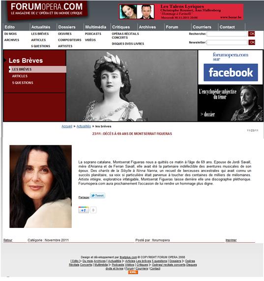 Montserrat Figueras ForumOpera 231111