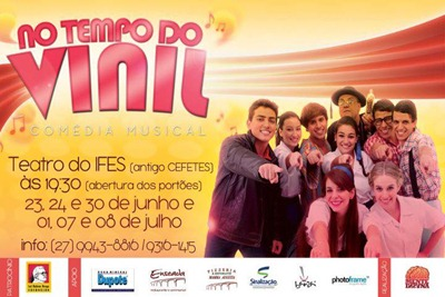 No Tempo do vinil - cartaz