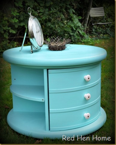Red Hen Home Round Aqua Table 4